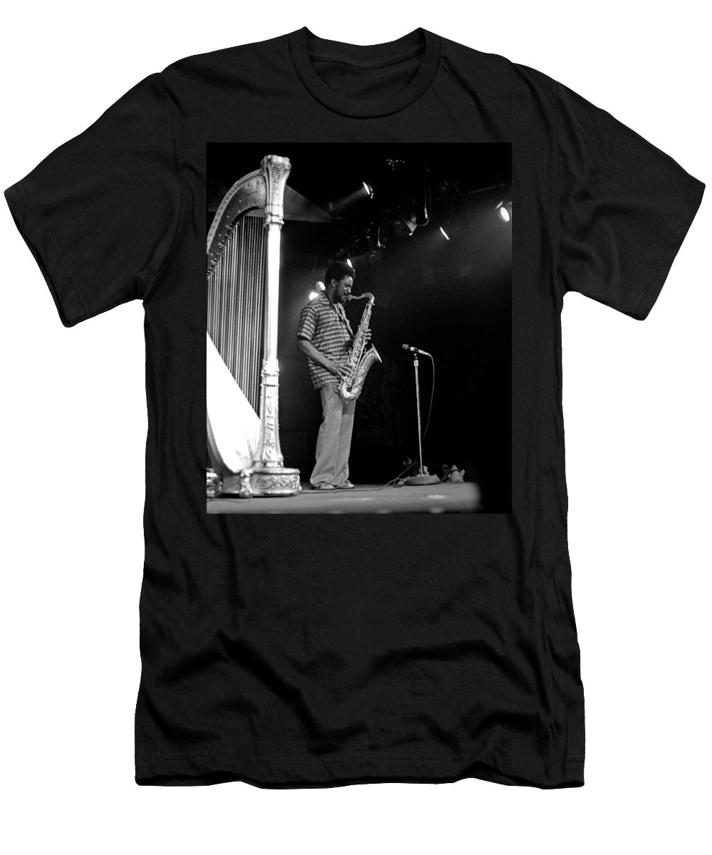Pharoah Sanders Men's T-Shirt (Athletic Fit) featuring the photograph Pharoah Sanders 5 by Lee Santa