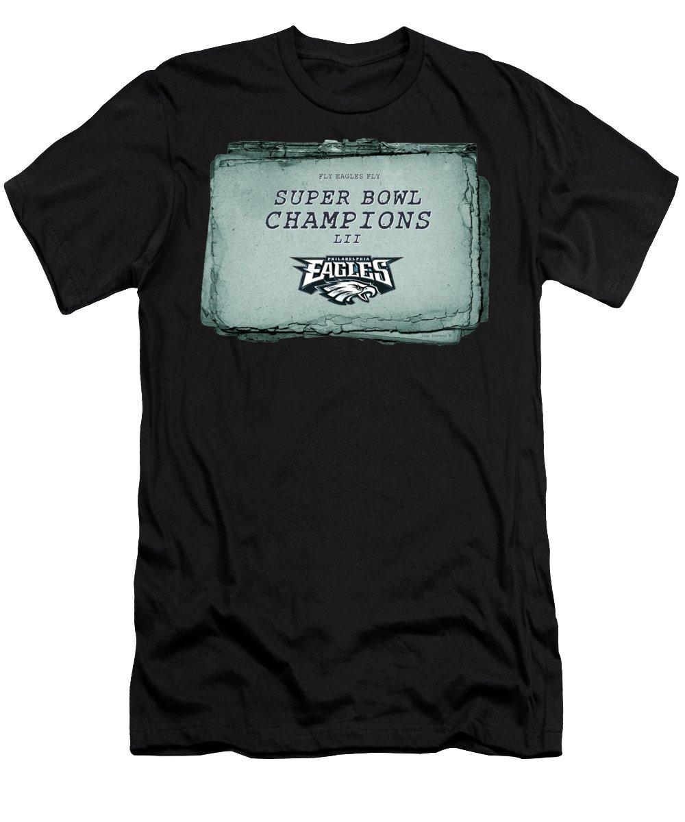e0371b5f19d Super Bowl Lii Men's T-Shirt (Athletic Fit) featuring the photograph Philadelphia  Eagles