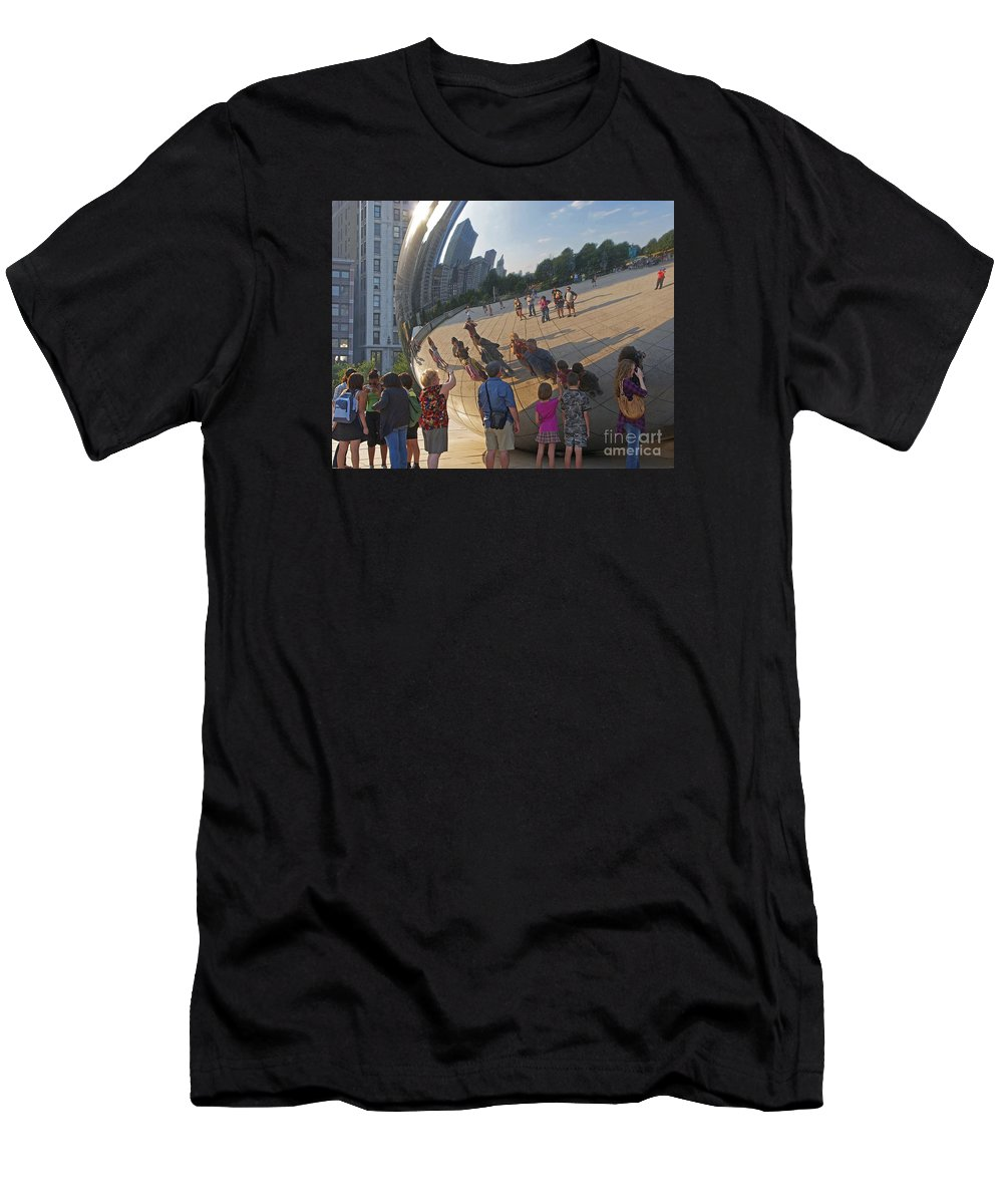Chicago Men's T-Shirt (Athletic Fit) featuring the photograph Photographers All by Ann Horn