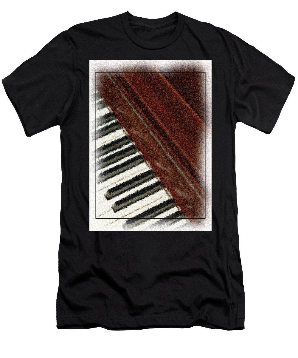 Piano Men's T-Shirt (Athletic Fit) featuring the photograph Piano Keys by Carolyn Marshall
