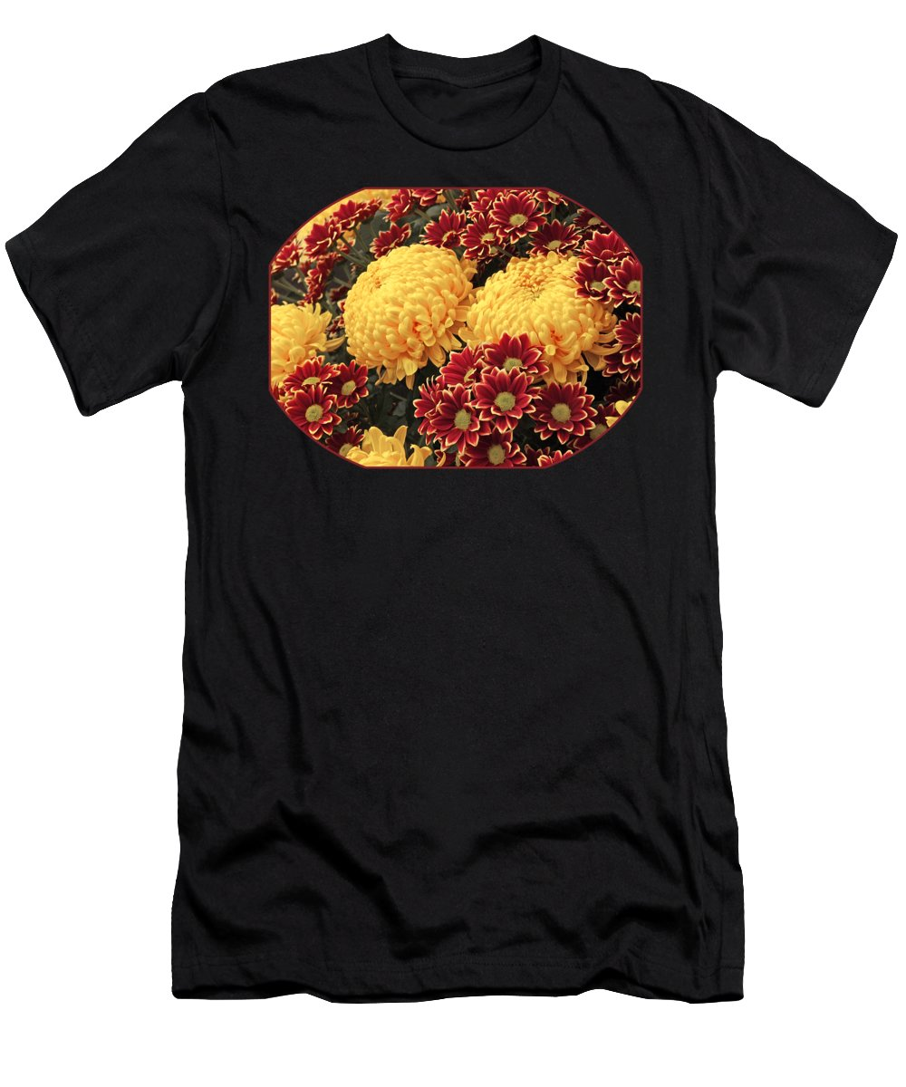 Yellow Flower T-Shirt featuring the photograph Pick And Mix Dahlias by Gill Billington