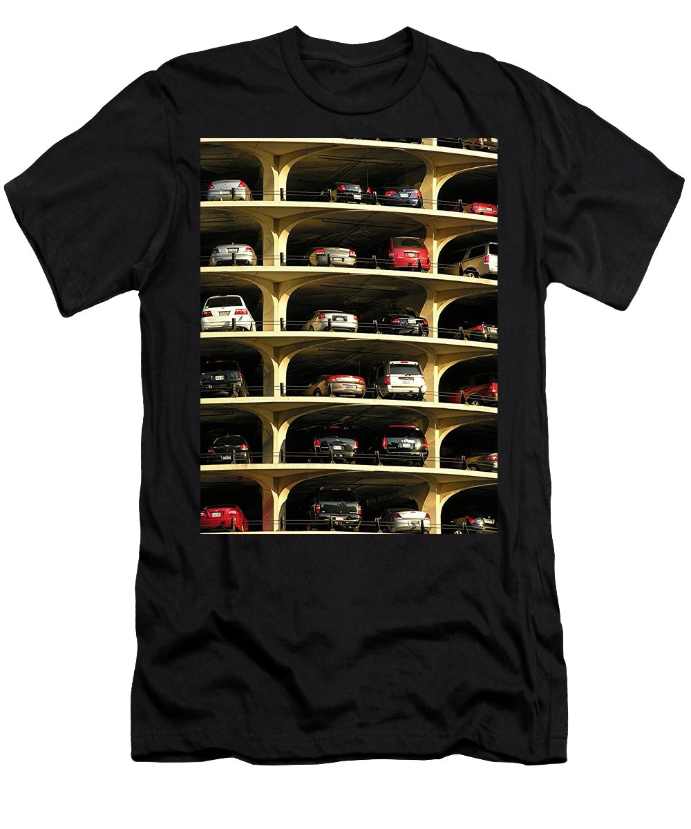 Cars Men's T-Shirt (Athletic Fit) featuring the mixed media Piled High by Diane Greco-Lesser