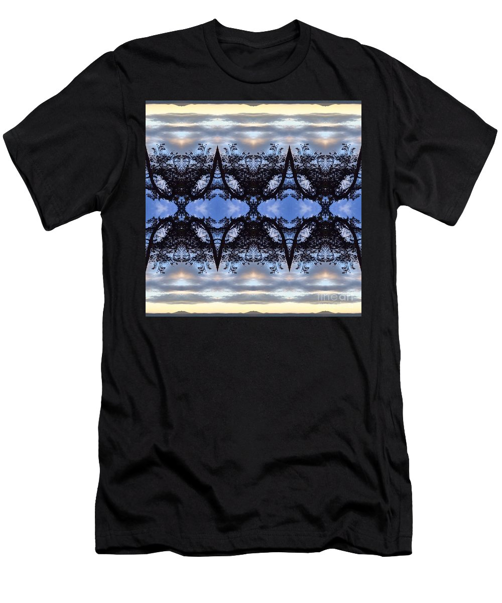 Men's T-Shirt (Athletic Fit) featuring the digital art Pilot Butte by Karl Norland