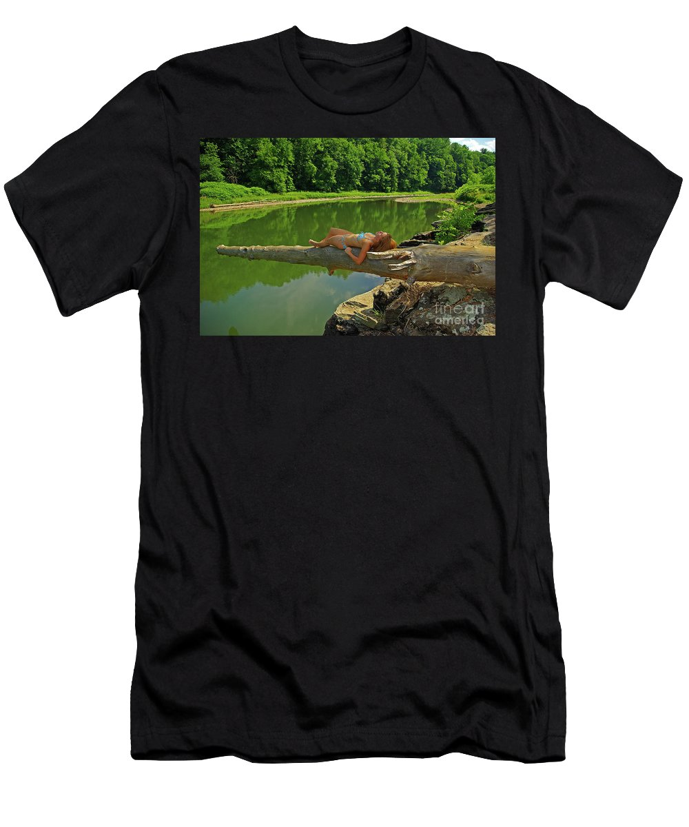 Pennsylvania Men's T-Shirt (Athletic Fit) featuring the photograph Pine Creek Afternoon by Rich Walter