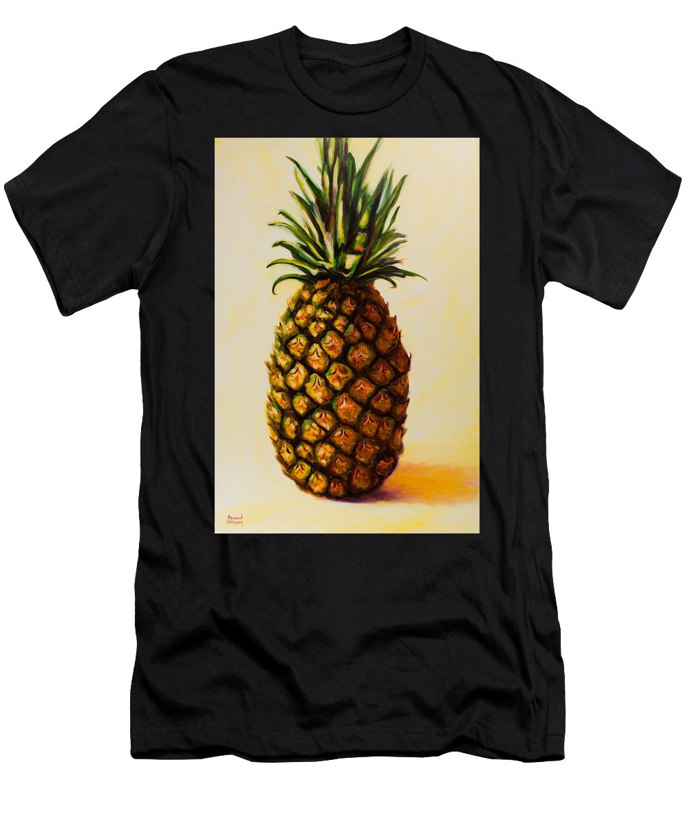 Pineapple T-Shirt featuring the painting Pineapple Angel by Shannon Grissom