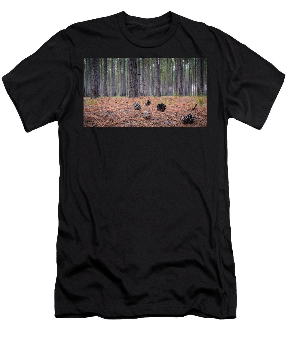 Bark Men's T-Shirt (Athletic Fit) featuring the photograph Pines And Needles 4 by Brad Grove