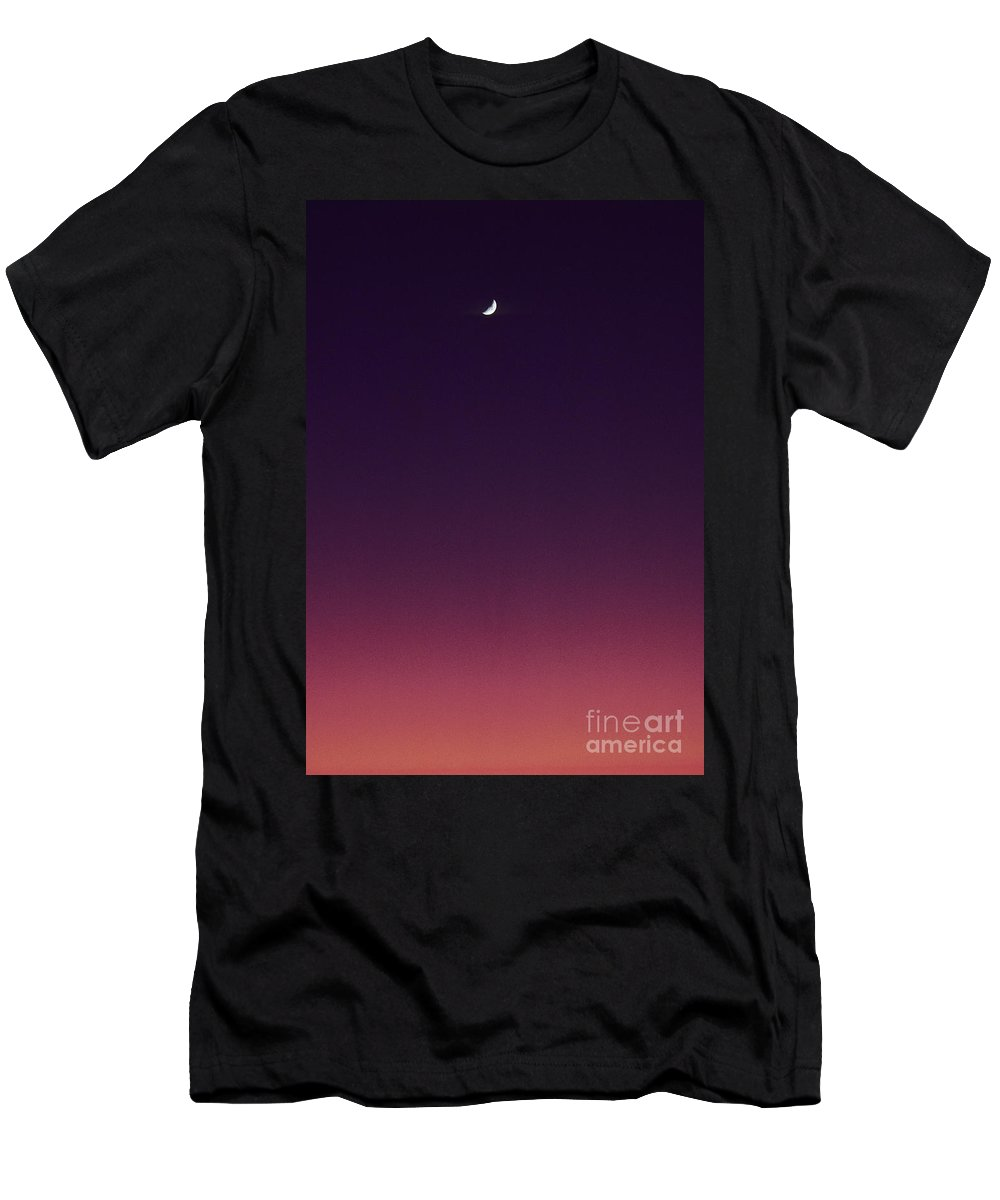 Above Men's T-Shirt (Athletic Fit) featuring the photograph Pink And Purple Sunset by Carl Shaneff - Printscapes