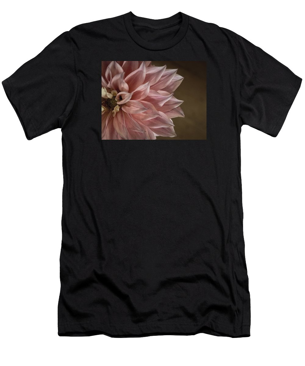 Flower Men's T-Shirt (Athletic Fit) featuring the photograph Pink Dahlia In Bloom by Kaleidoscopik Photography