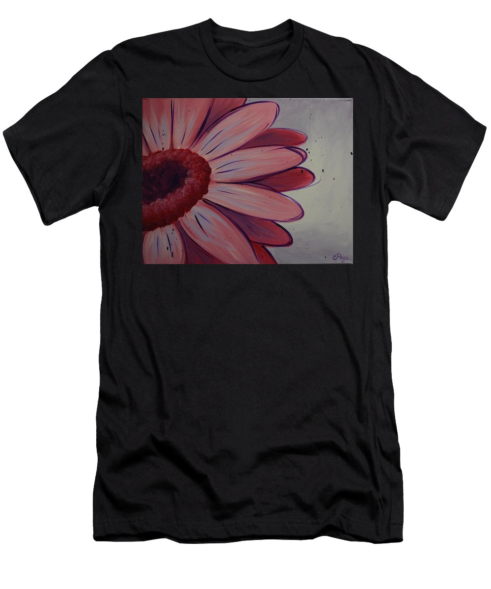 Daisy Men's T-Shirt (Athletic Fit) featuring the painting Pink Daisy by Emily Page