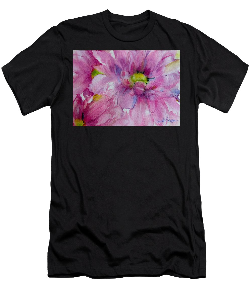 Daisy Pink Flower Men's T-Shirt (Athletic Fit) featuring the painting Pink Daisy by Linda Emerson