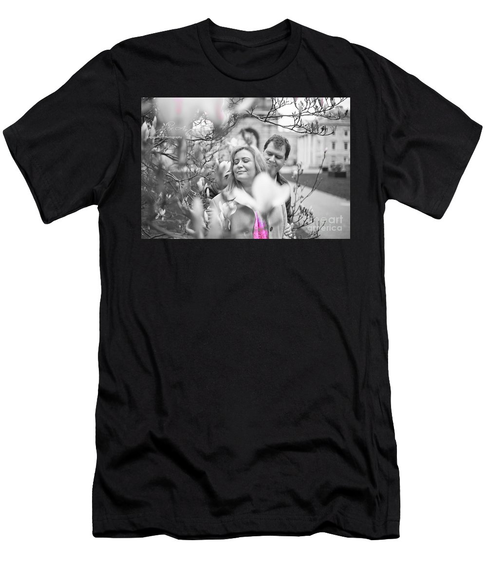 Engagement Men's T-Shirt (Athletic Fit) featuring the photograph Pink Enchantment by Alex Art and Photo