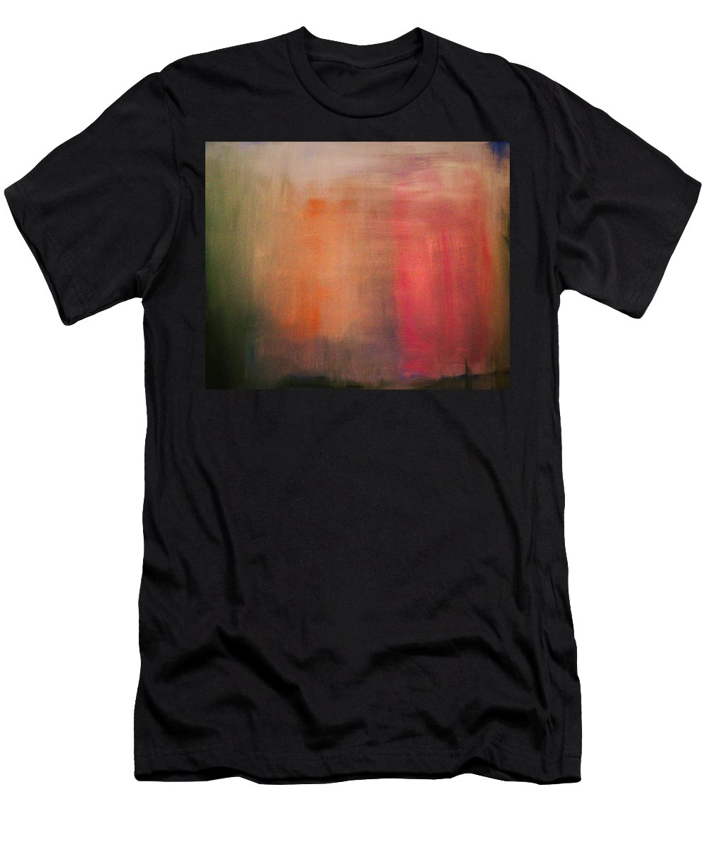 Abstract Men's T-Shirt (Athletic Fit) featuring the painting Pink Falls by Marvin Pike