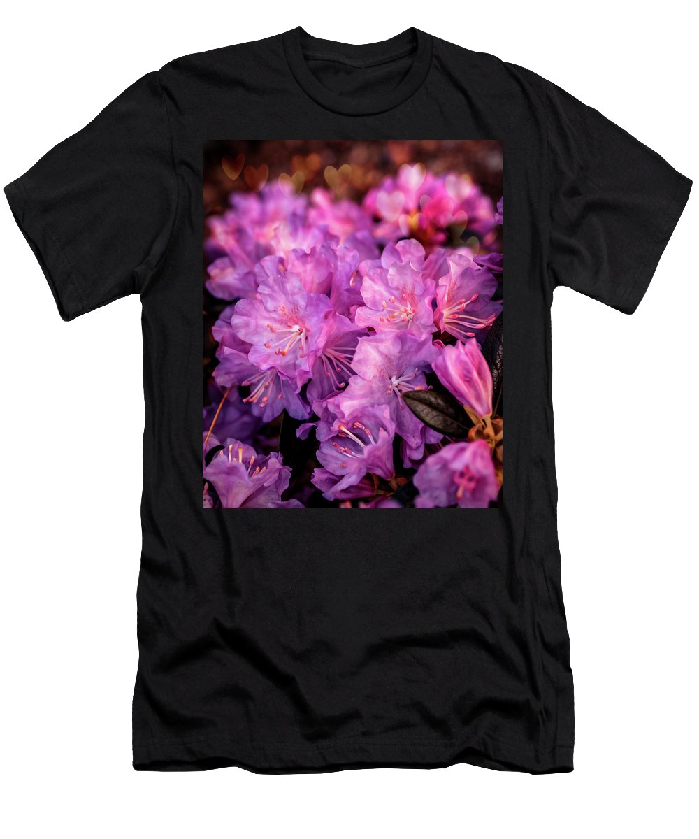 Flowers Men's T-Shirt (Athletic Fit) featuring the photograph Pink From Heart by Lilia D