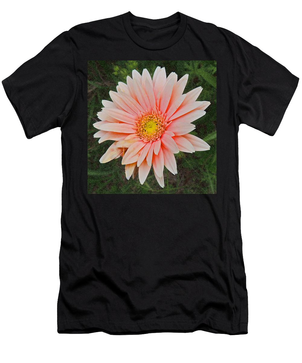 Photographic Print Men's T-Shirt (Athletic Fit) featuring the photograph Pink Gerbera Daisy by Marian Bell