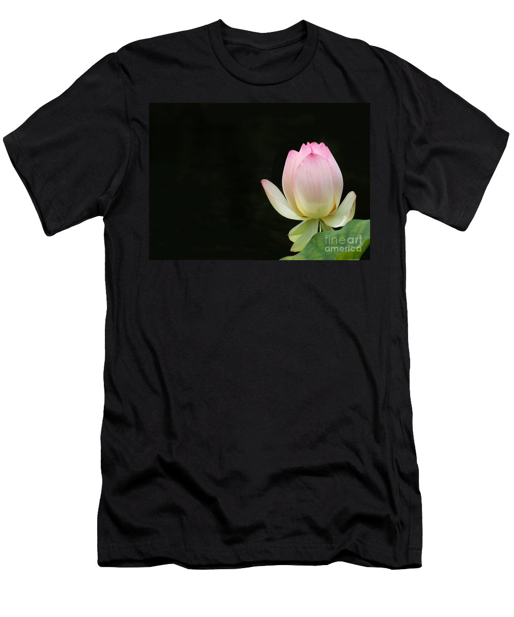 Flower Men's T-Shirt (Athletic Fit) featuring the photograph Pink Lotus Bud by Sabrina L Ryan