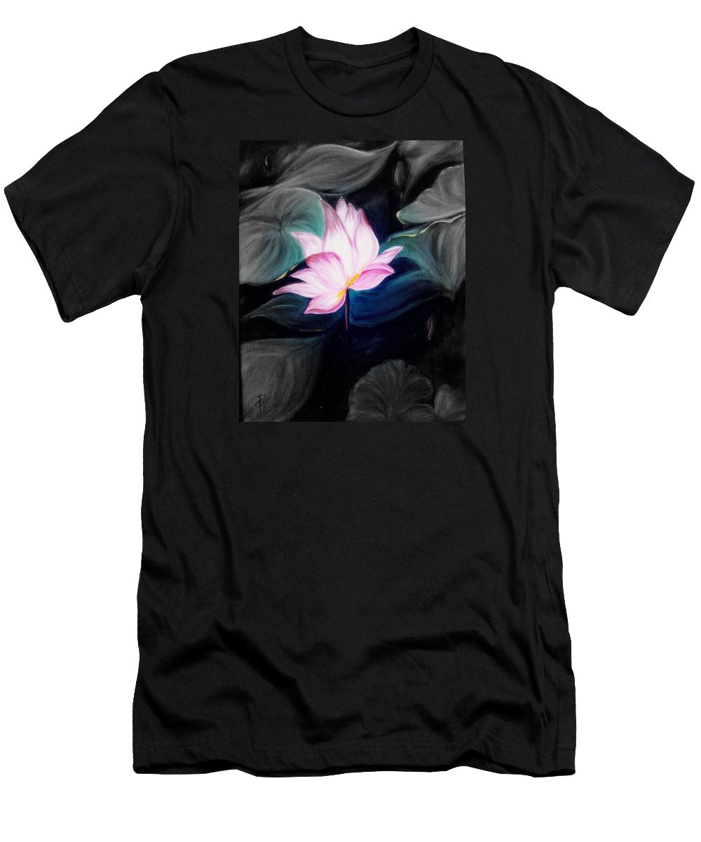 Lotus T-Shirt featuring the painting Pink Lotus by Dina Holland