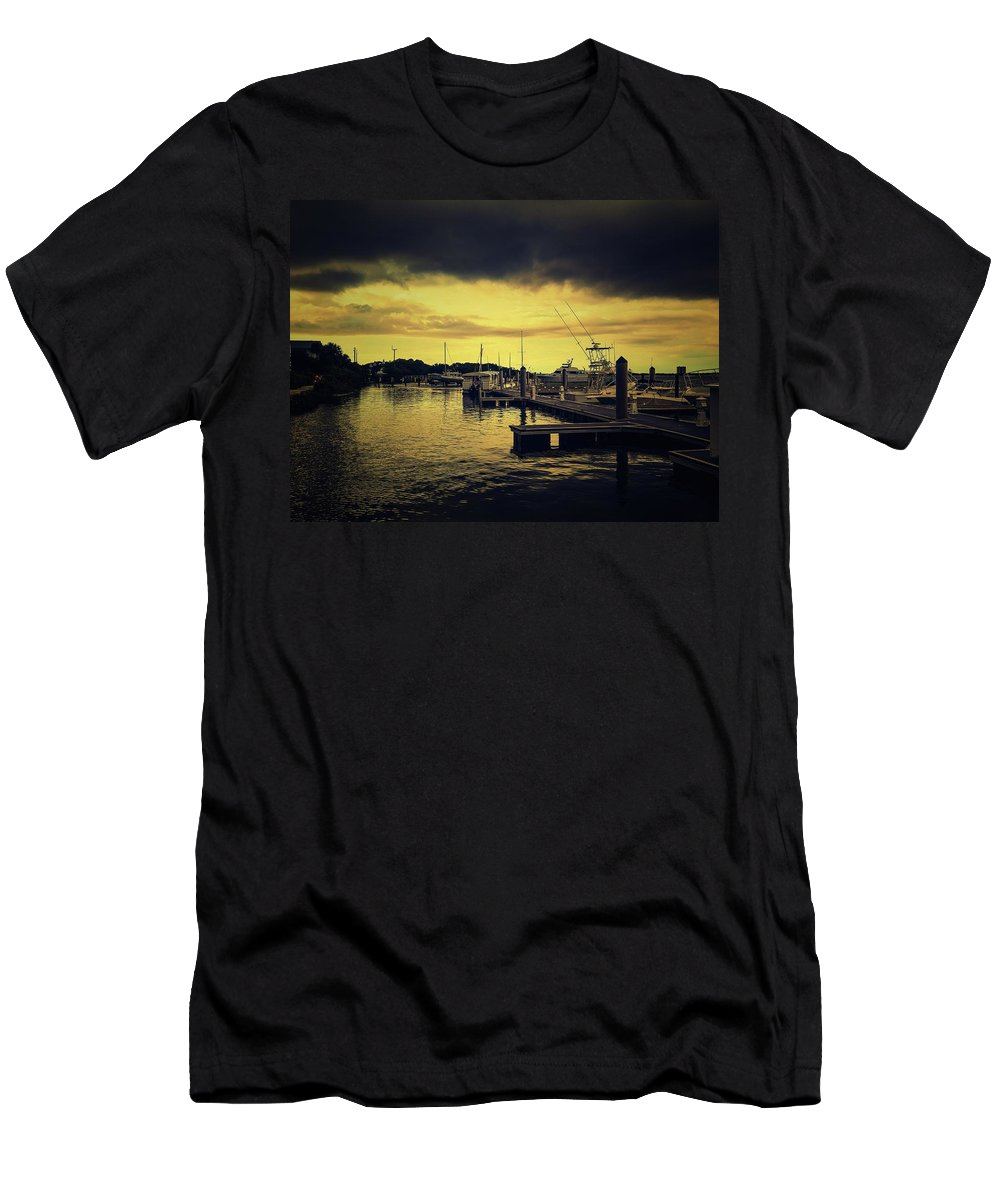 Marina Men's T-Shirt (Athletic Fit) featuring the photograph Pink Shell Marina by Shelley Smith