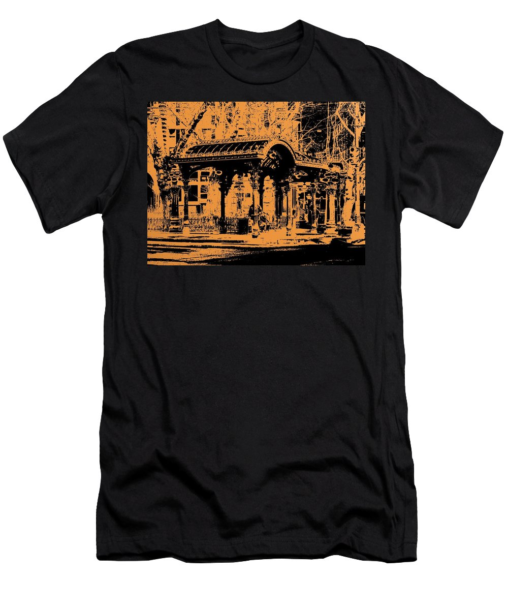 Seattle Men's T-Shirt (Athletic Fit) featuring the digital art Pioneer Square Pergola by Tim Allen