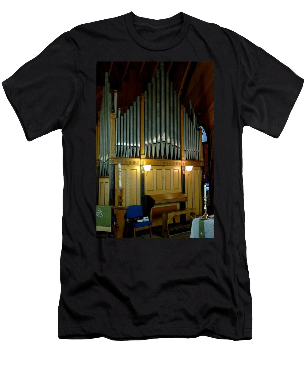 Usa Men's T-Shirt (Athletic Fit) featuring the photograph Pipe Organ Of Old by LeeAnn McLaneGoetz McLaneGoetzStudioLLCcom