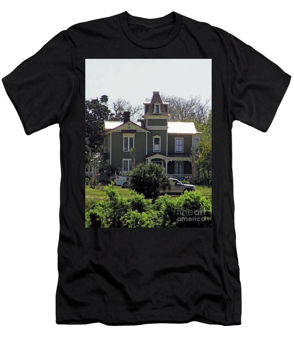 House Men's T-Shirt (Athletic Fit) featuring the photograph Pippi Longstocking House by D Hackett