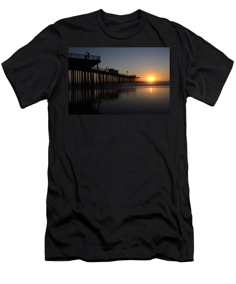 Pismo Men's T-Shirt (Athletic Fit) featuring the photograph Pismo Beach Pier California 4 by Bob Christopher