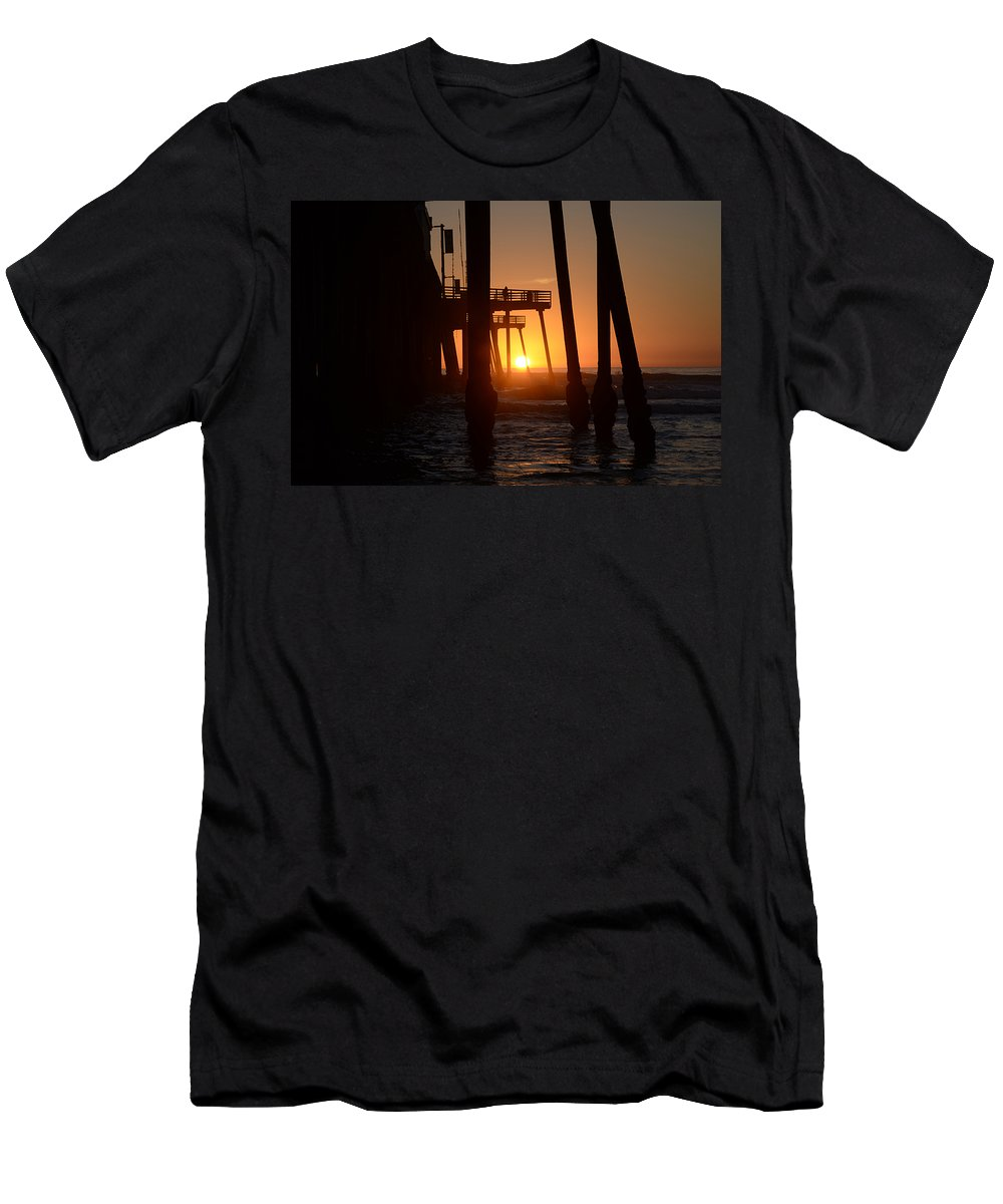 Pismo Men's T-Shirt (Athletic Fit) featuring the photograph Pismo Beach Pier California 5 by Bob Christopher
