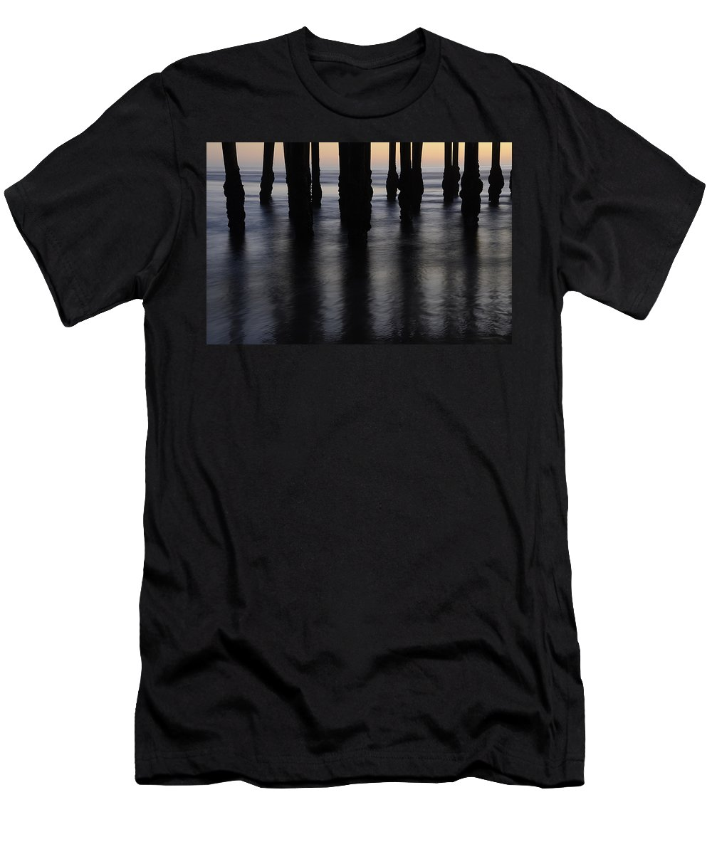 Pismo Men's T-Shirt (Athletic Fit) featuring the photograph Pismo Beach Pier California1 by Bob Christopher