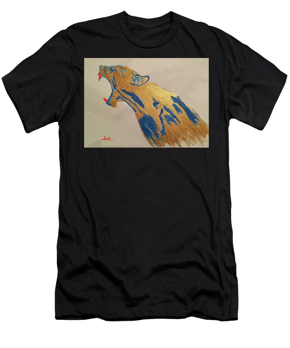 Men's T-Shirt (Athletic Fit) featuring the painting Pissed Beast by Jack Bunds