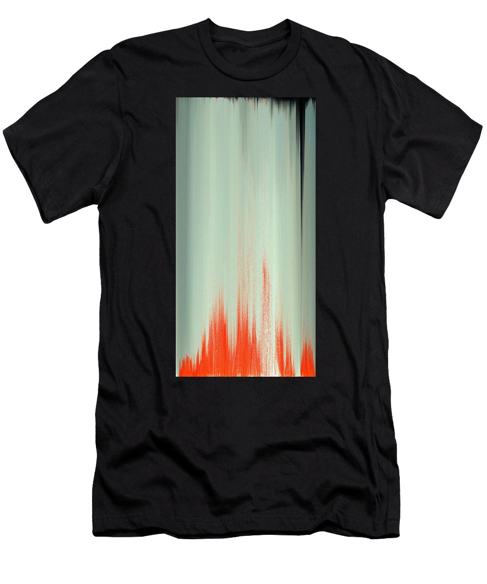 Pixel Sorting Men's T-Shirt (Athletic Fit) featuring the painting Pixel Sorting 23 by Chris Butler