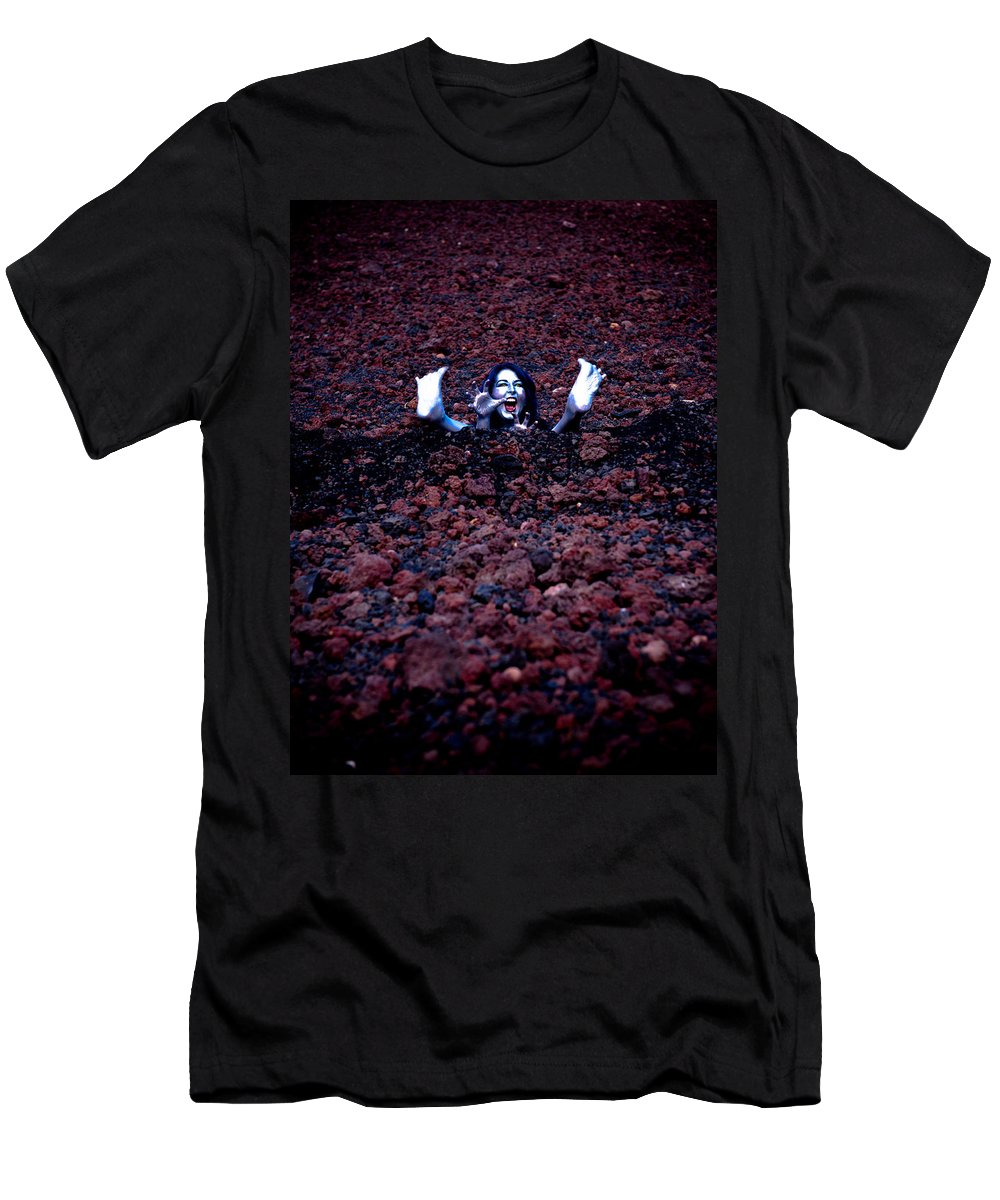 Silver Woman Men's T-Shirt (Athletic Fit) featuring the photograph Pixie Bath by Scott Sawyer