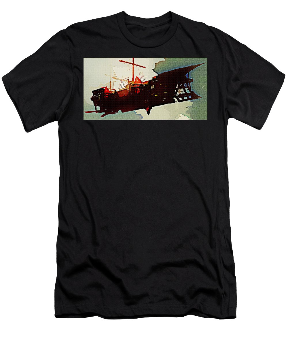 Pixiv Fantasia Rd Men's T-Shirt (Athletic Fit) featuring the digital art Pixiv Fantasia Rd by Lora Battle