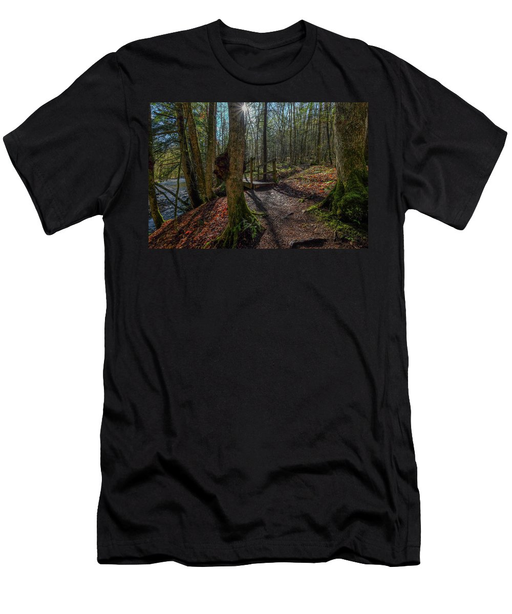 Men's T-Shirt (Athletic Fit) featuring the photograph Pixley Park Boonville New York by Kevin Ernst