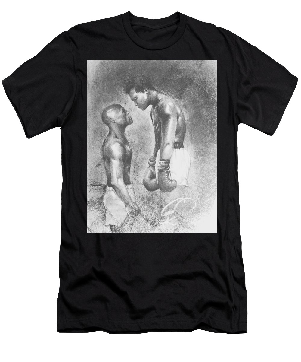 Muhammad Ali Men's T-Shirt (Athletic Fit) featuring the drawing Place Your Bets by Anthony Carr