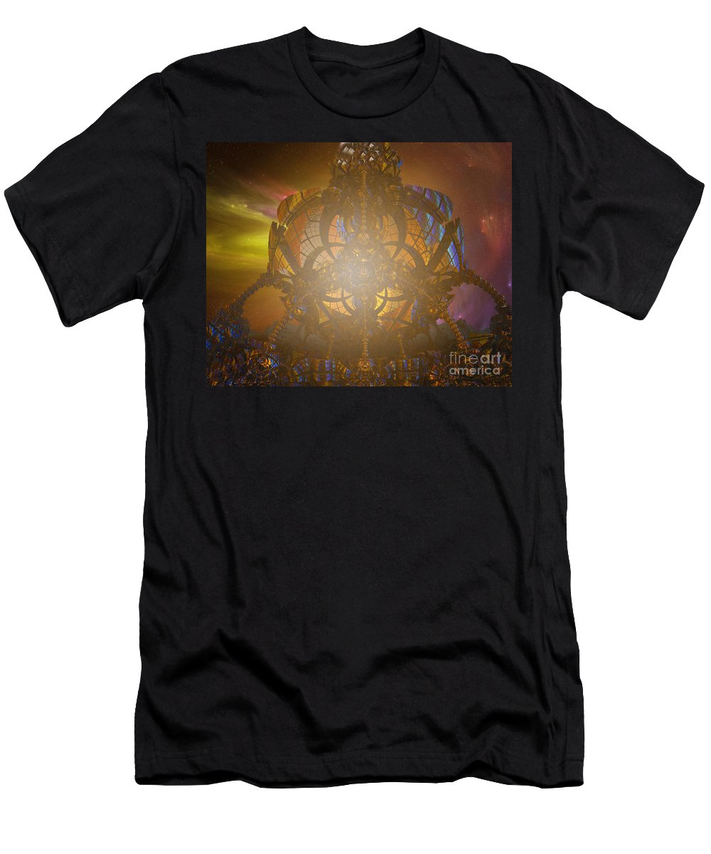 Planet Men's T-Shirt (Athletic Fit) featuring the digital art Planet Horizon by Melissa Messick