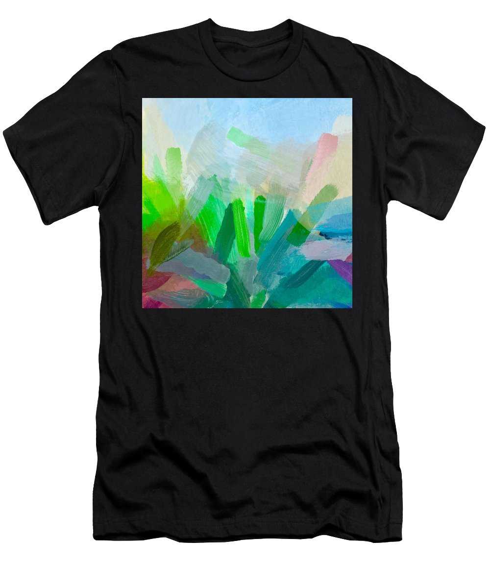 Plants Men's T-Shirt (Athletic Fit) featuring the painting Plant Life by Chris Fulks