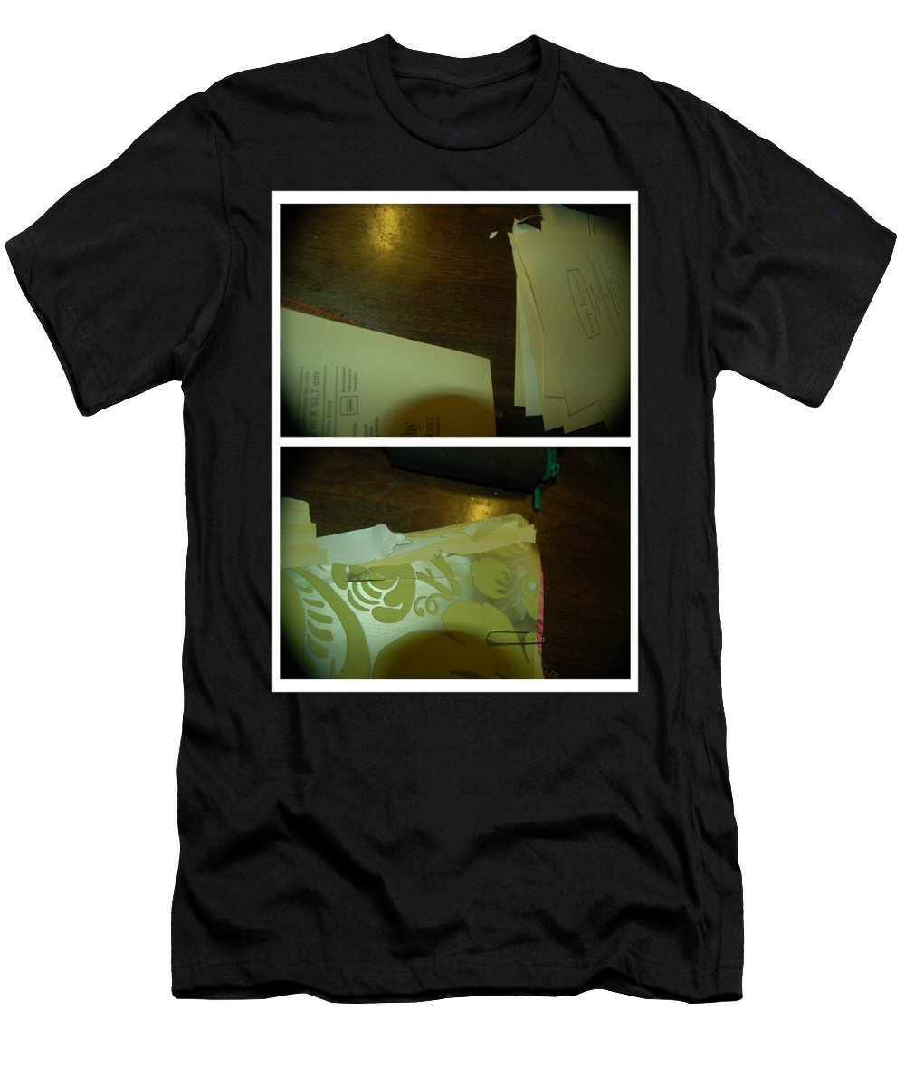 Abstract Men's T-Shirt (Athletic Fit) featuring the photograph Play That Funky Music by Alwyn Glasgow