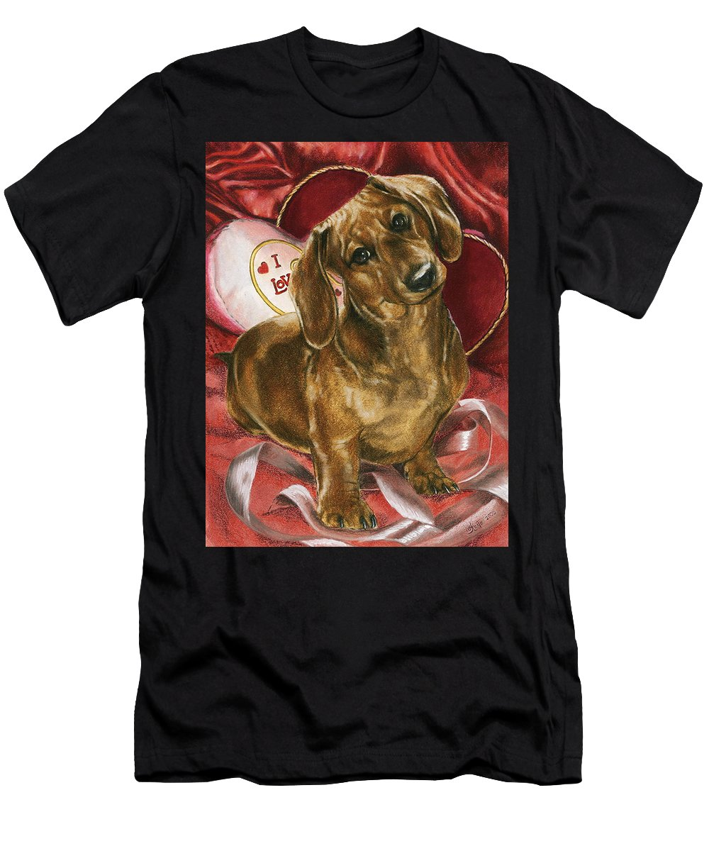 Purebred Men's T-Shirt (Athletic Fit) featuring the mixed media Please Be Mine by Barbara Keith