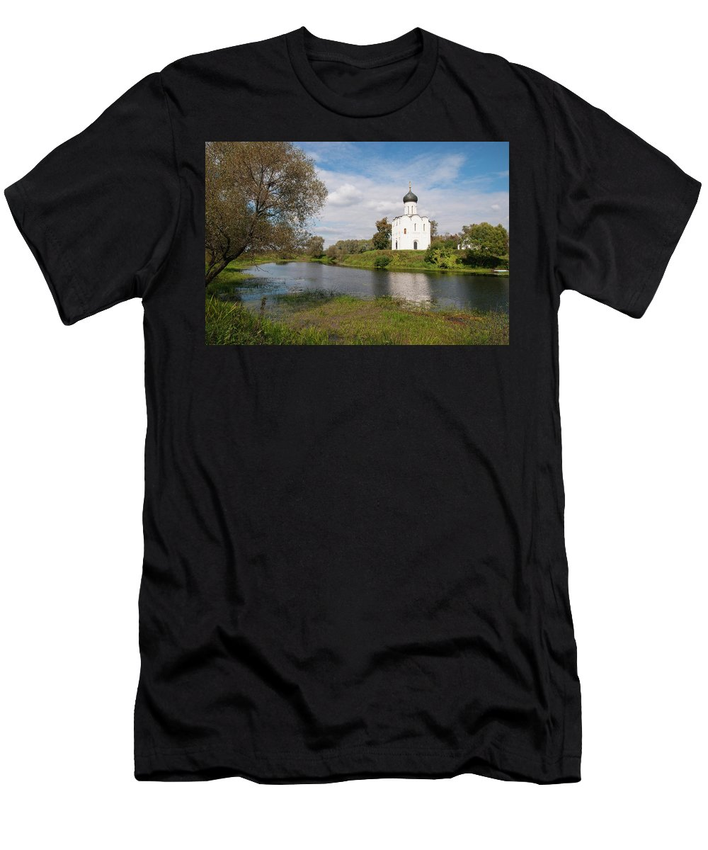 Church Men's T-Shirt (Athletic Fit) featuring the photograph Pokrova-na-nerli by Sergei Dolgov