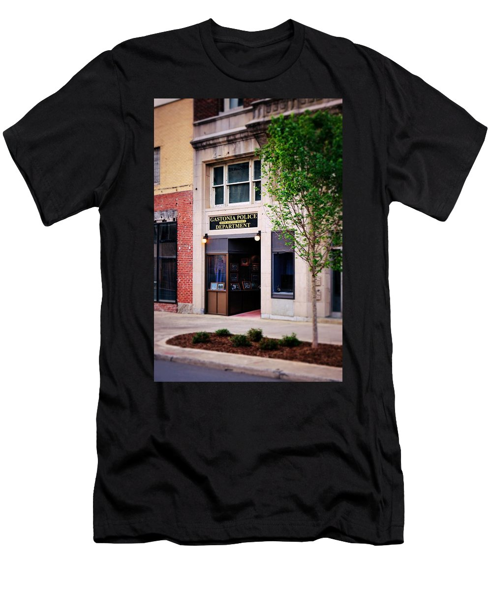 Fine Art Men's T-Shirt (Athletic Fit) featuring the photograph Police Department by Rodney Lee Williams