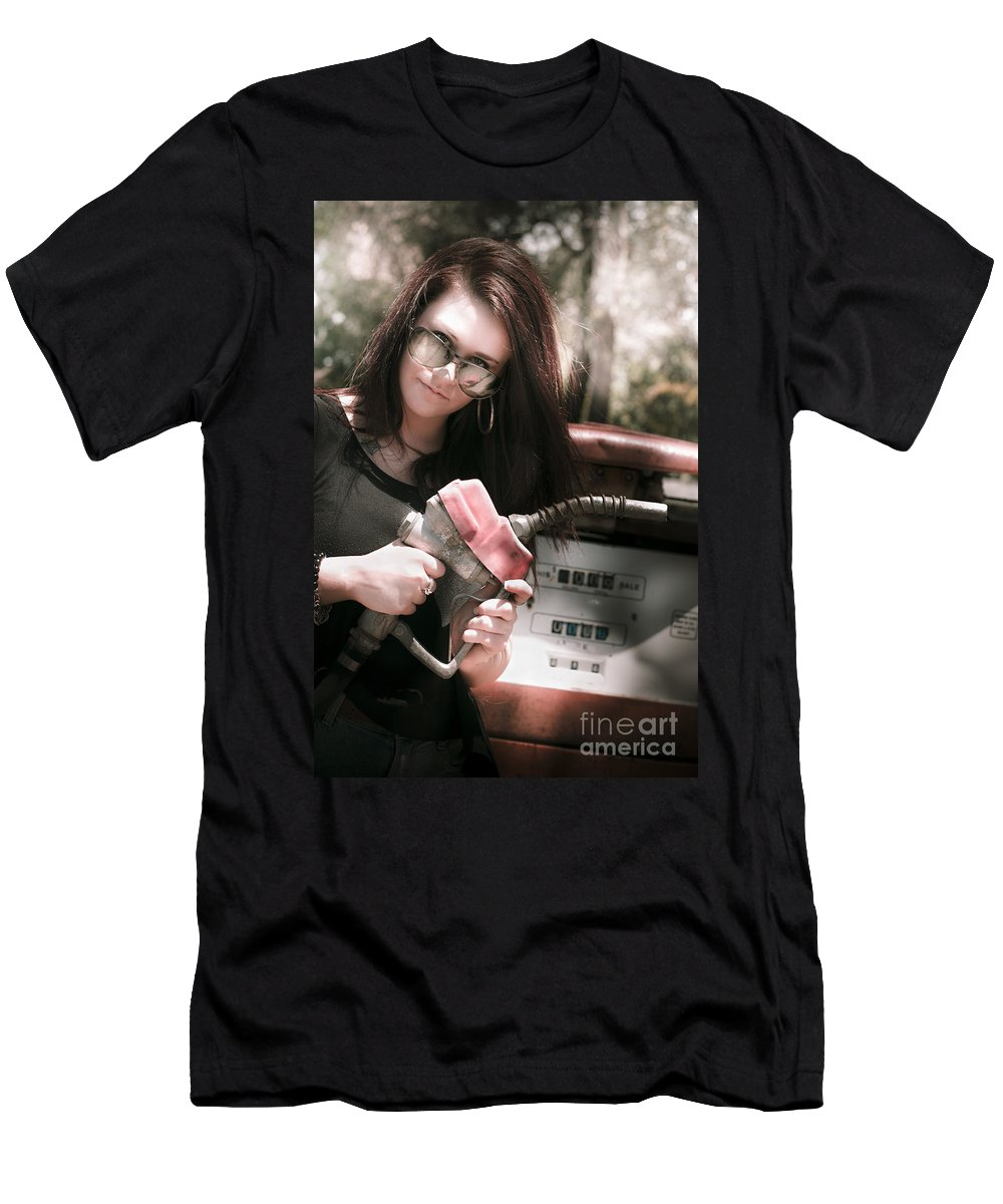 Automobile Men's T-Shirt (Athletic Fit) featuring the photograph Pollution Through Consumption by Jorgo Photography - Wall Art Gallery