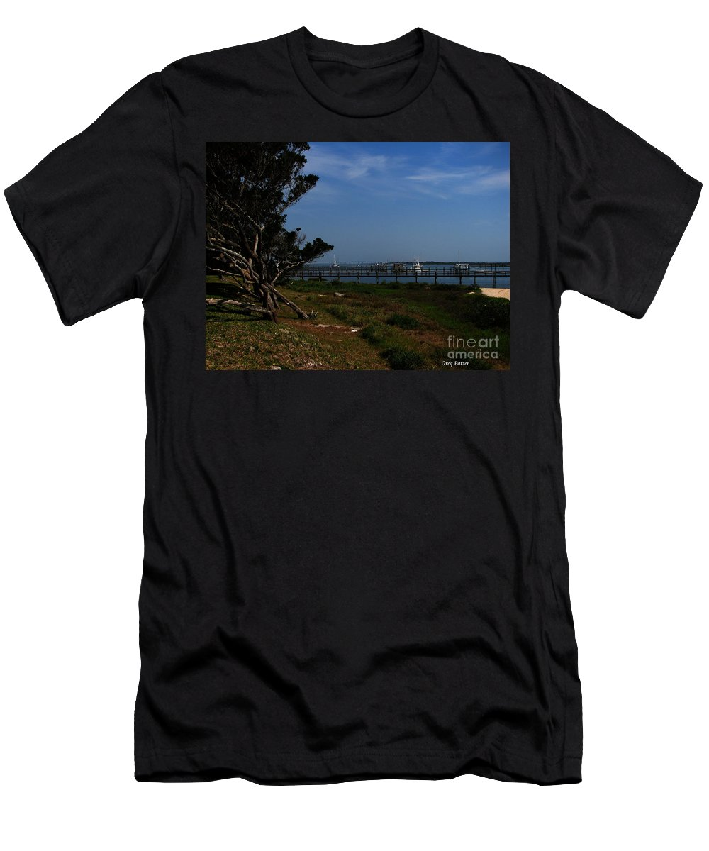 Art For The Wall...patzer Photography Men's T-Shirt (Athletic Fit) featuring the photograph Ponce De Leon by Greg Patzer