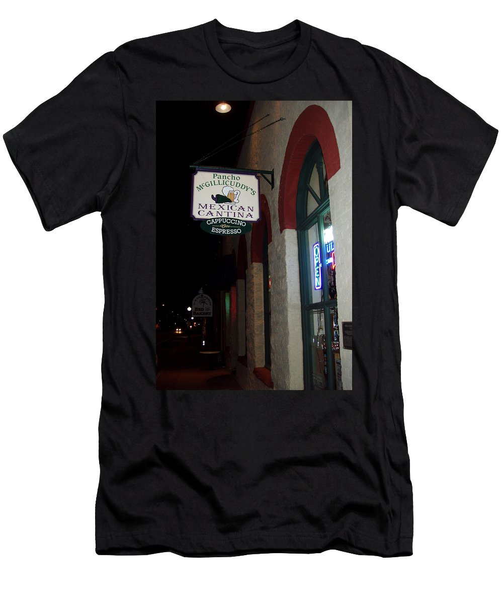 Restaurant Men's T-Shirt (Athletic Fit) featuring the photograph Poncho Mcgillicuddys by Wayne Potrafka
