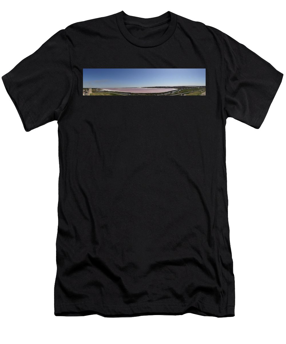 Men's T-Shirt (Athletic Fit) featuring the photograph Pong Of Salt Water Panoramic by Andres Chauffour
