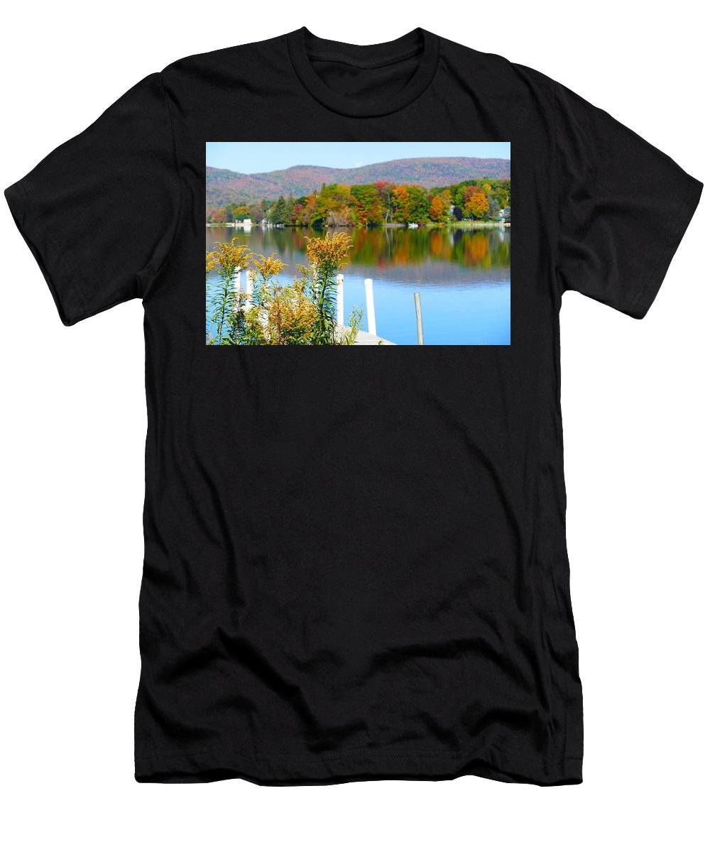 Fall Men's T-Shirt (Athletic Fit) featuring the photograph Pontoosuc Foliage 3 by Debbie Storie