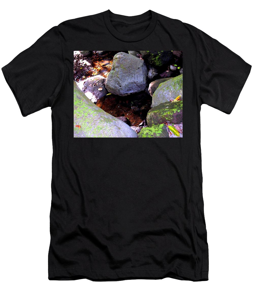 Water Men's T-Shirt (Athletic Fit) featuring the photograph Pool In The Rainforest by Ian MacDonald