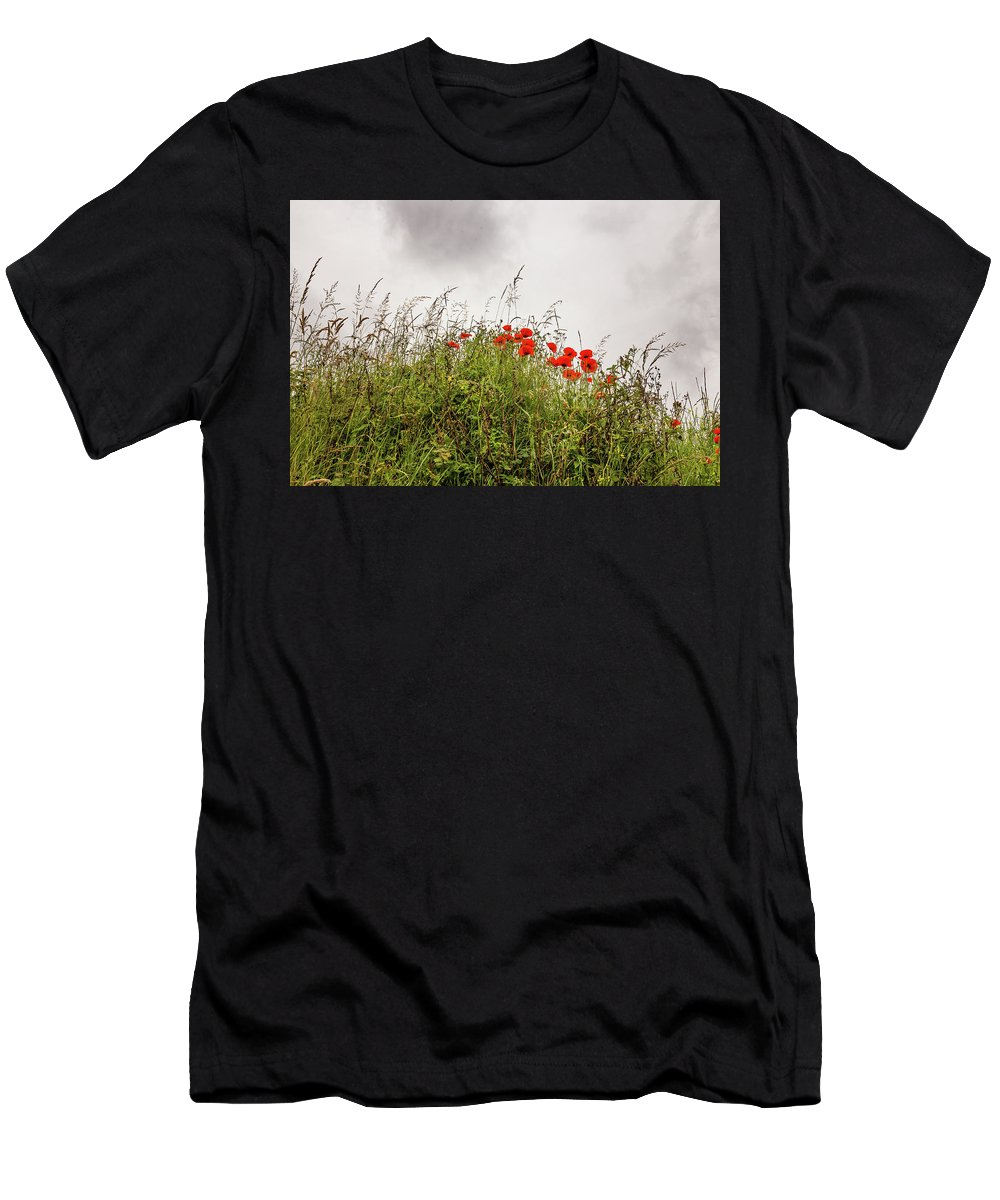 Poppy Men's T-Shirt (Athletic Fit) featuring the photograph Poppies by Ed James