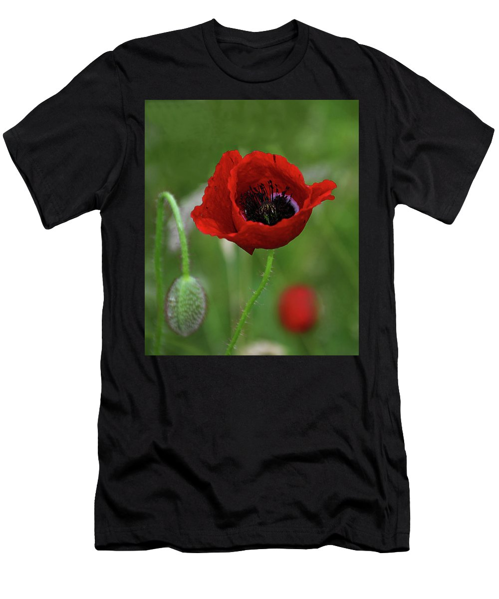Poppy Men's T-Shirt (Athletic Fit) featuring the photograph Poppy 7. by Mirza Cengic