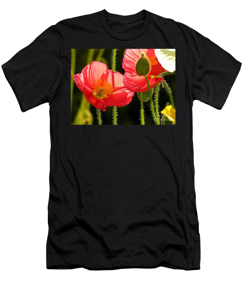 Poppy Men's T-Shirt (Athletic Fit) featuring the photograph Poppy by Diane Greco-Lesser