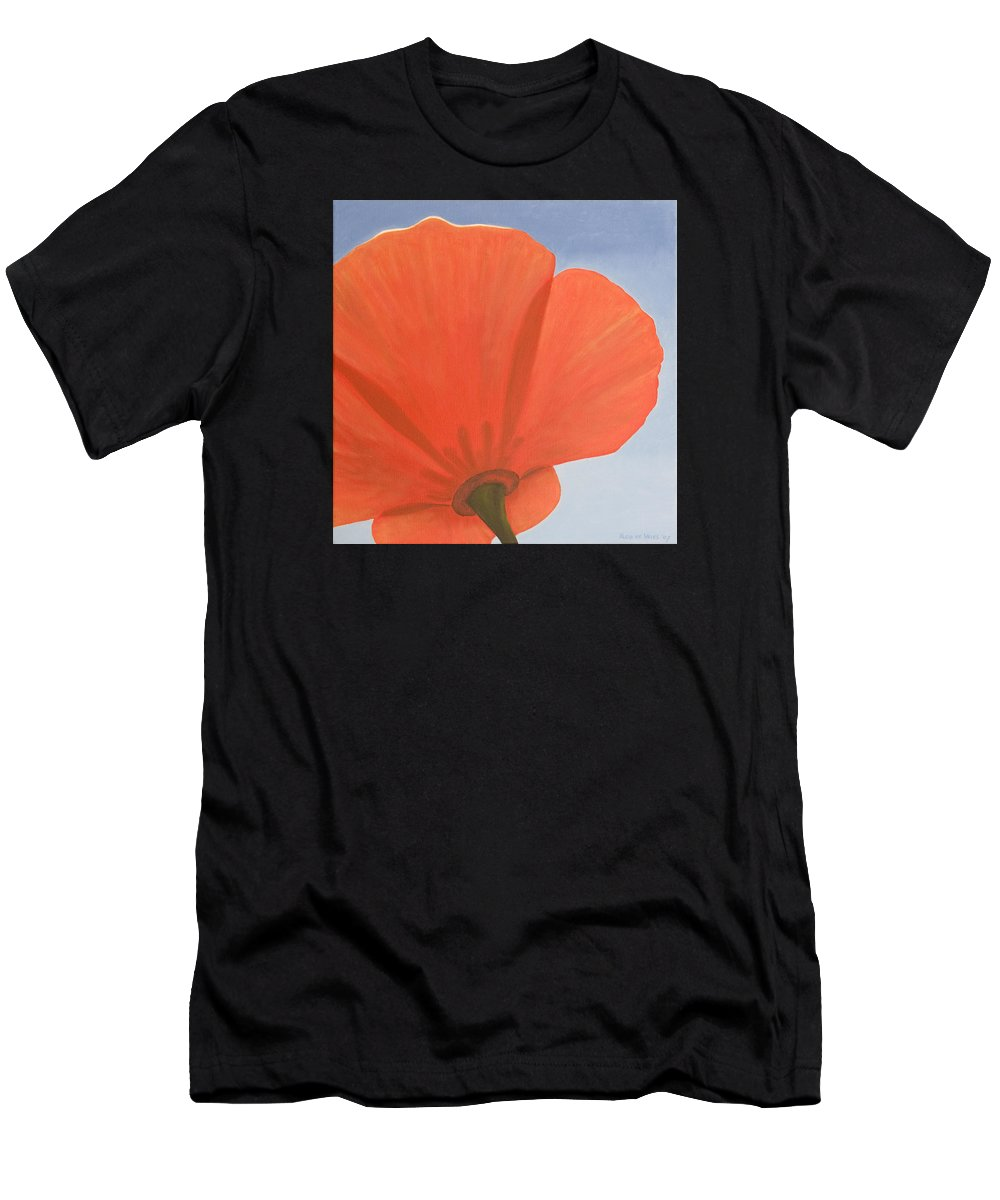 Flower Men's T-Shirt (Athletic Fit) featuring the painting Poppy by Rob De Vries