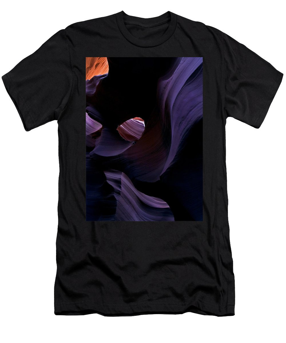 Desert Men's T-Shirt (Athletic Fit) featuring the photograph Portal by Mike Dawson